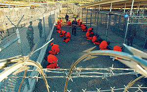 Camp X-Ray located in Guantanamo Bay 2002.