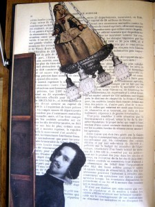 Playing with Las Meninas - from page in Joseph Cornell's Untitled Book-Object